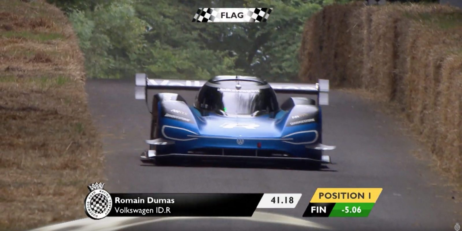 Volkswagen ID.R breaks 20-year-old Goodwood hillclimb record set by V10 F1 car
