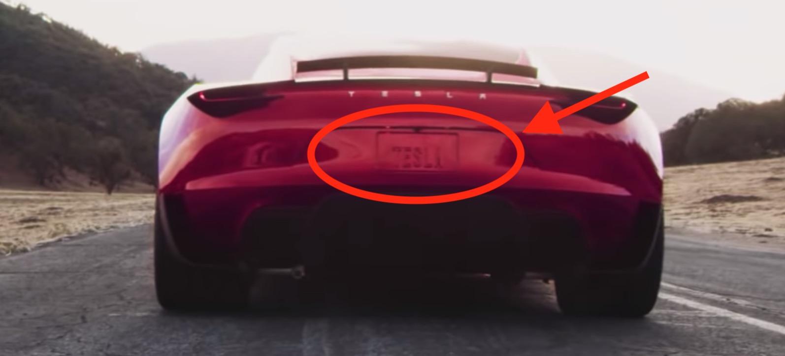 Uber Vehicle List >> Tesla Roadster's SpaceX thruster will be hidden behind the license plate, says Elon Musk - Electrek