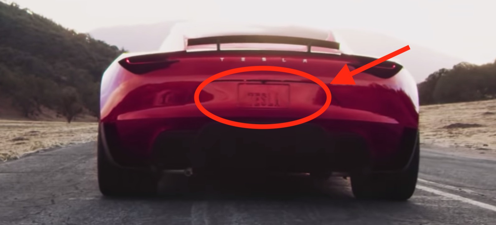 Tesla Roadster's SpaceX thruster will be hidden behind the license plate, says Elon Musk