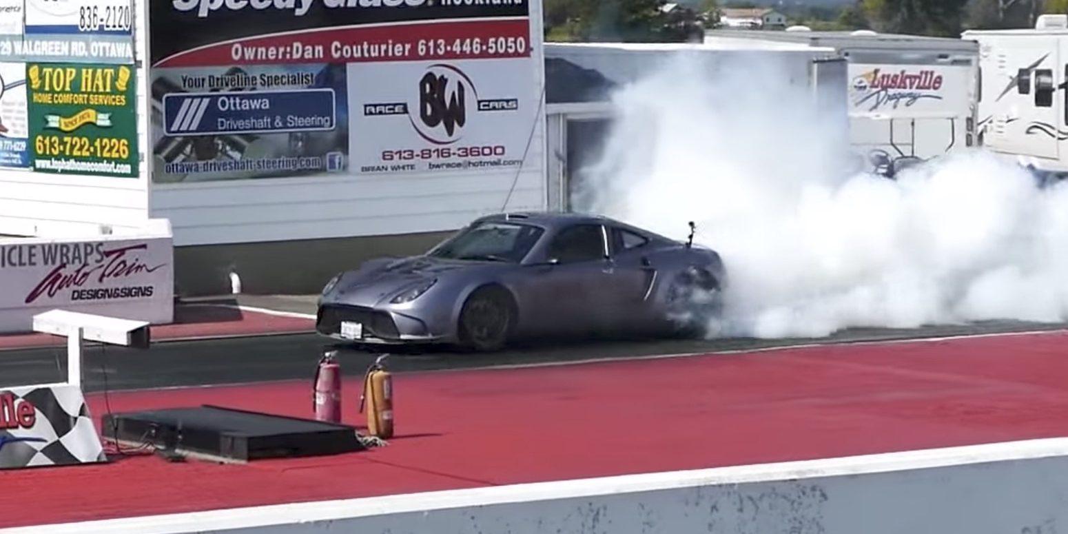 Tesla-powered kit car with dual motors runs quarter-mile in