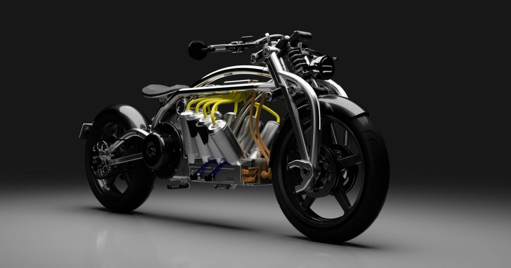 curtiss zeus v8 electric motorcycle