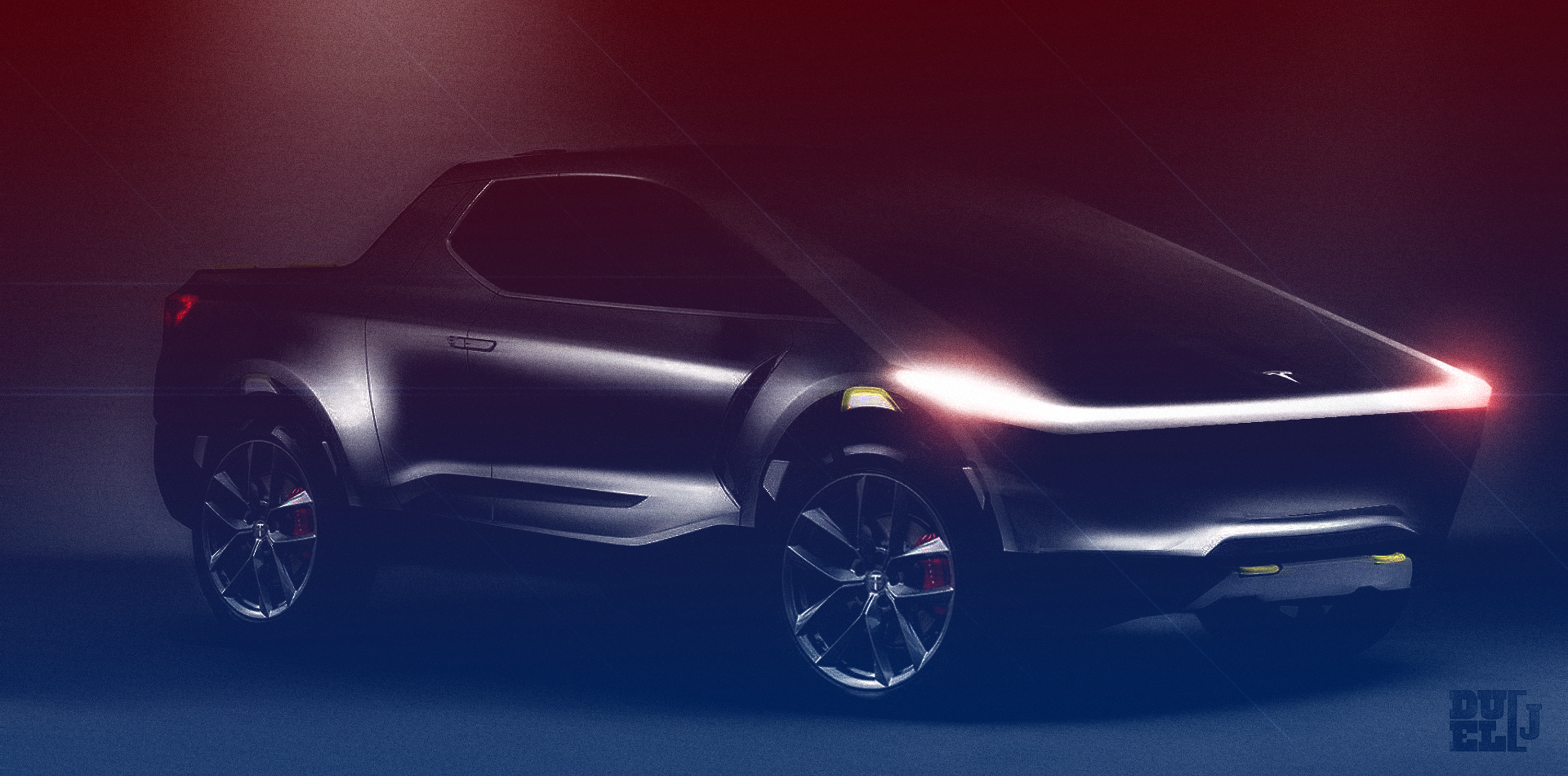 Tesla Pickup truck: could this be the mysterious 'Blade Runner' design? - Electrek