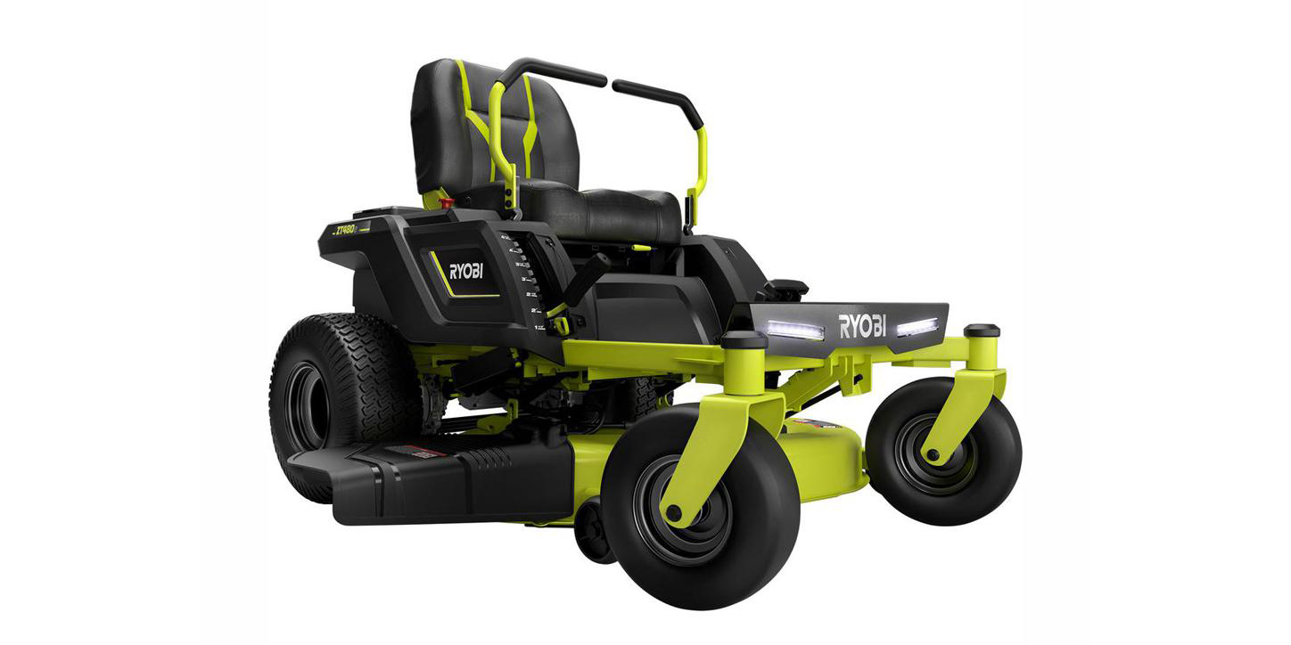 Take $700 off Ryobi's 42-inch Zero Turn Electric Lawn Mower, more in today's Green Deals
