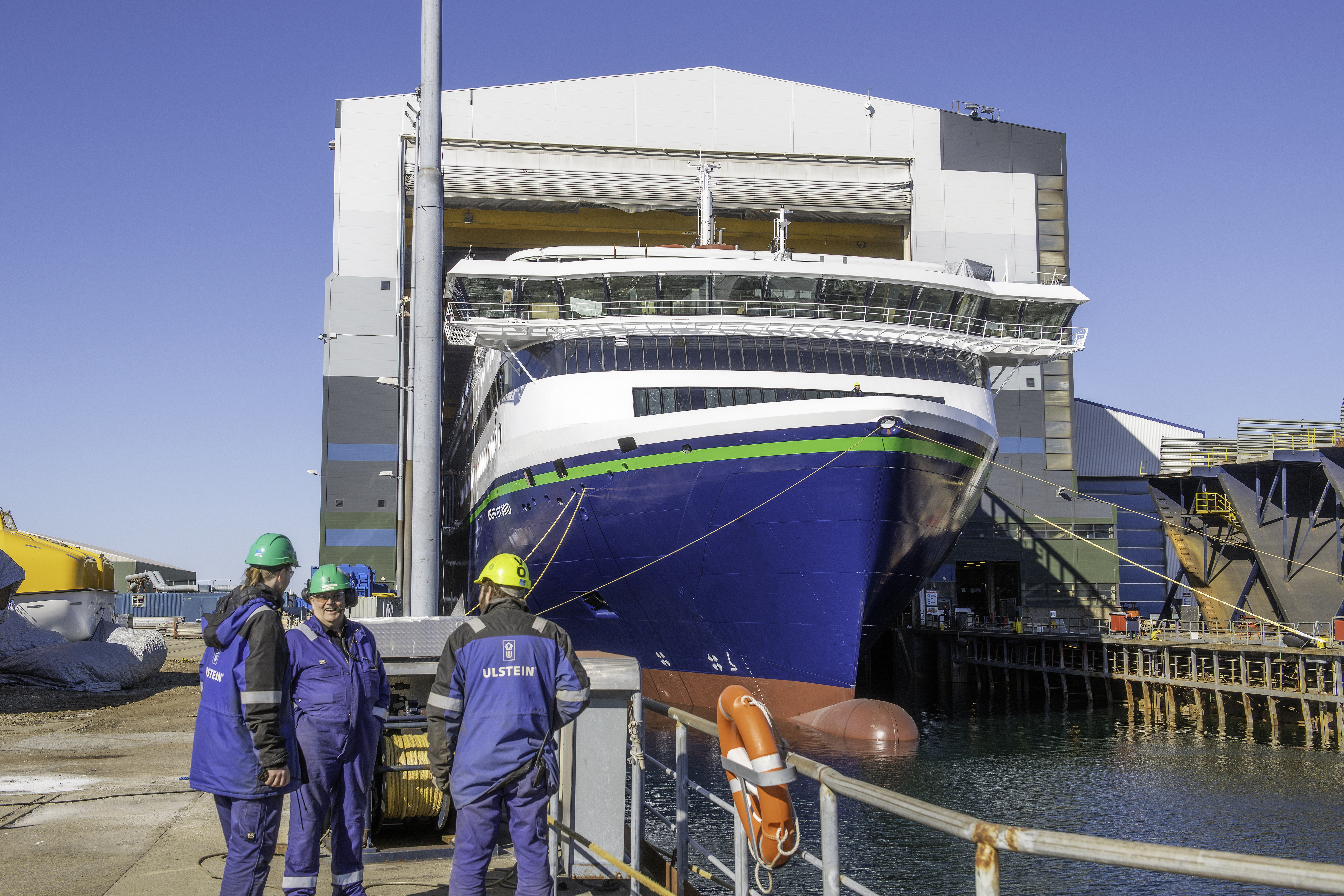 World's largest plug-in hybrid ship hits water with equivalent of 50