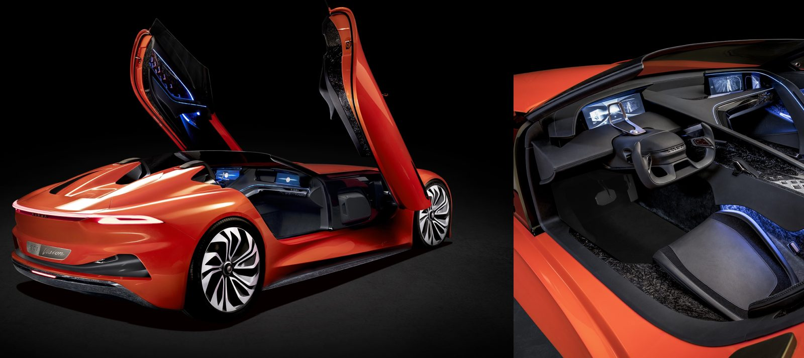 Karma unveils its first all-electric car, a hypercar with insane-looking doors