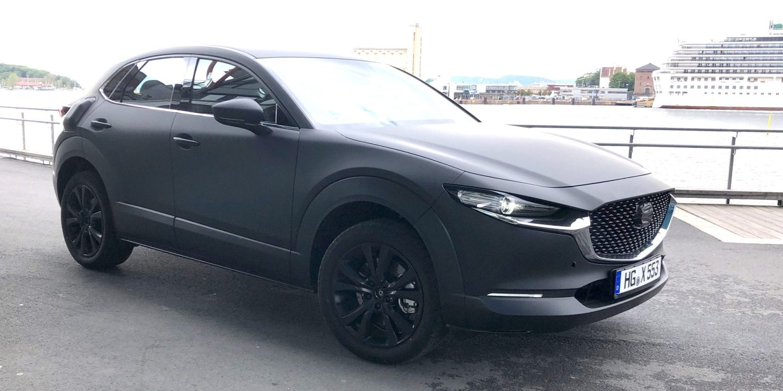 Mazda's first electric car spotted testing, looks like a CX-5