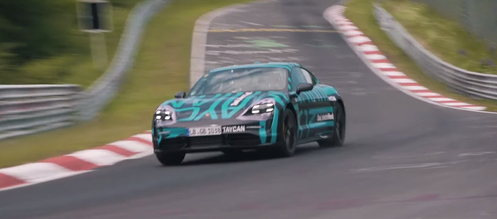 Porsche Taycan claims new Nürburgring racetrack record with