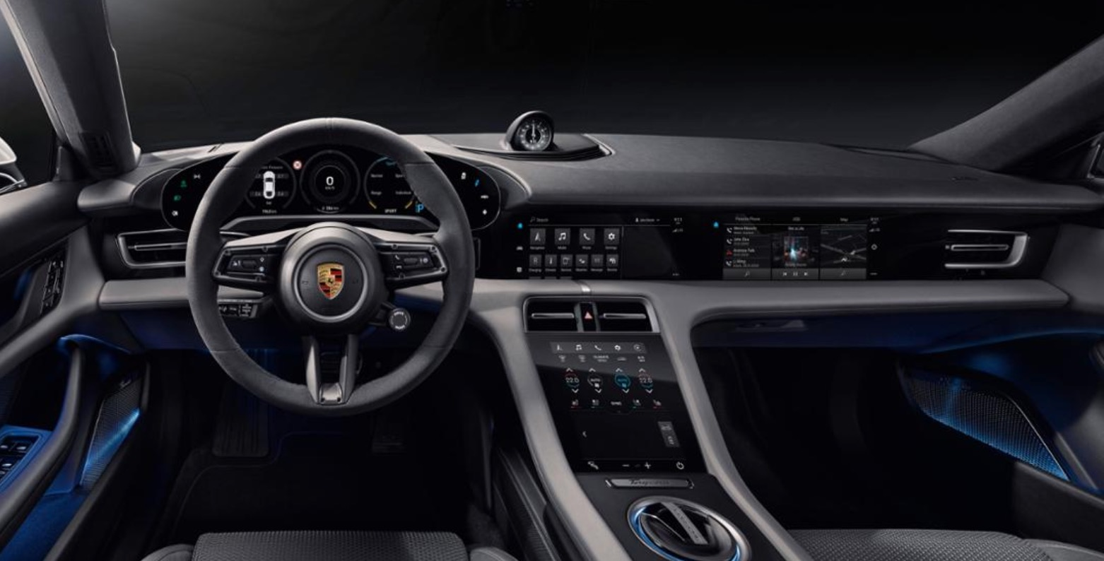 Porsche unveils the interior of Taycan electric car