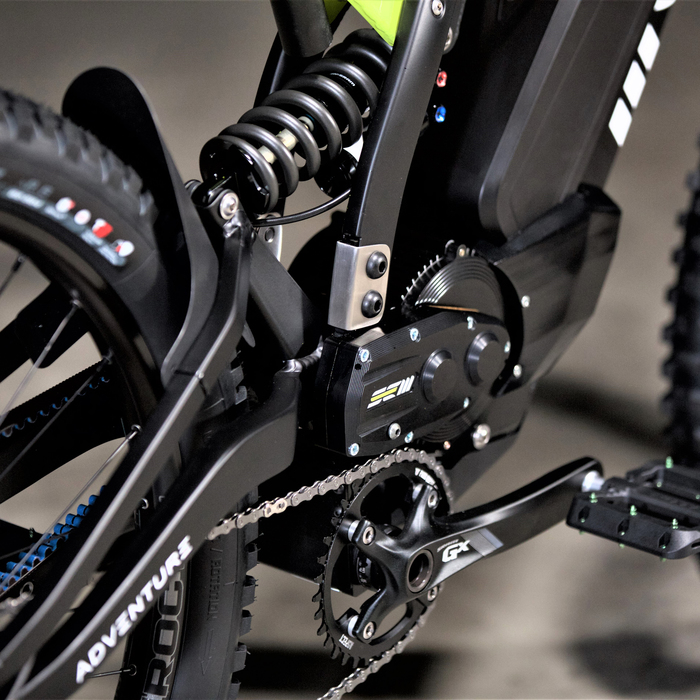 SEM Adventure is a mountain bike with an electric motorcycle