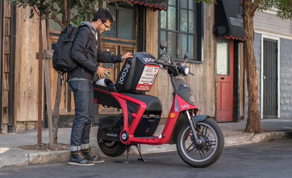 scoot electric moped