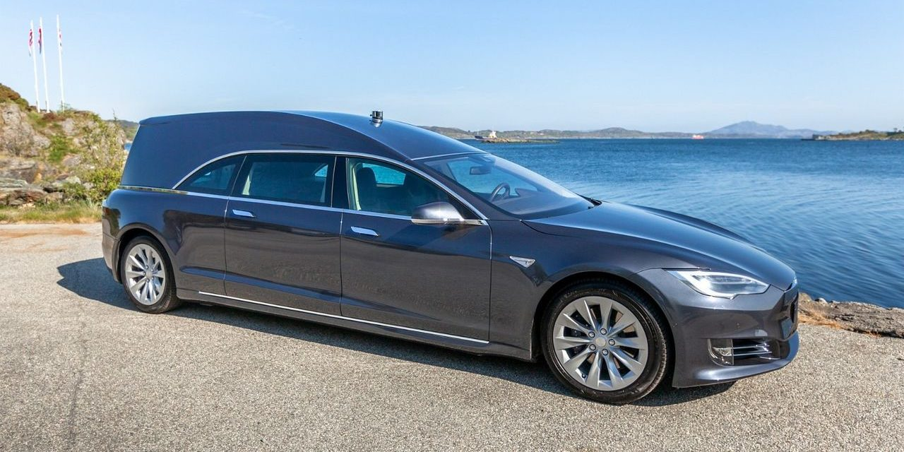 A Tesla hearse goes for sale at a whopping $200,000