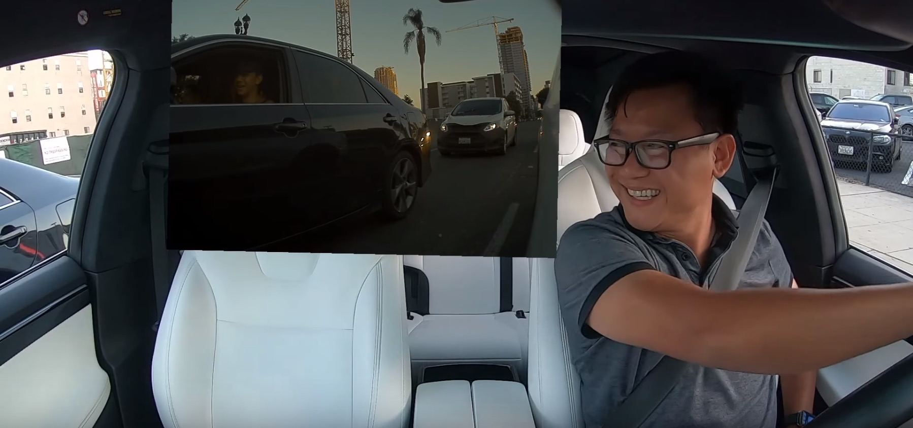Tesla owner has a friendly street race that turns into perfect candid ad - Electrek
