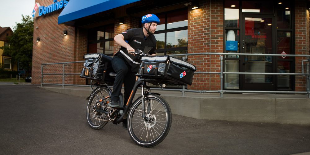 delivery e-bike domino's rad power