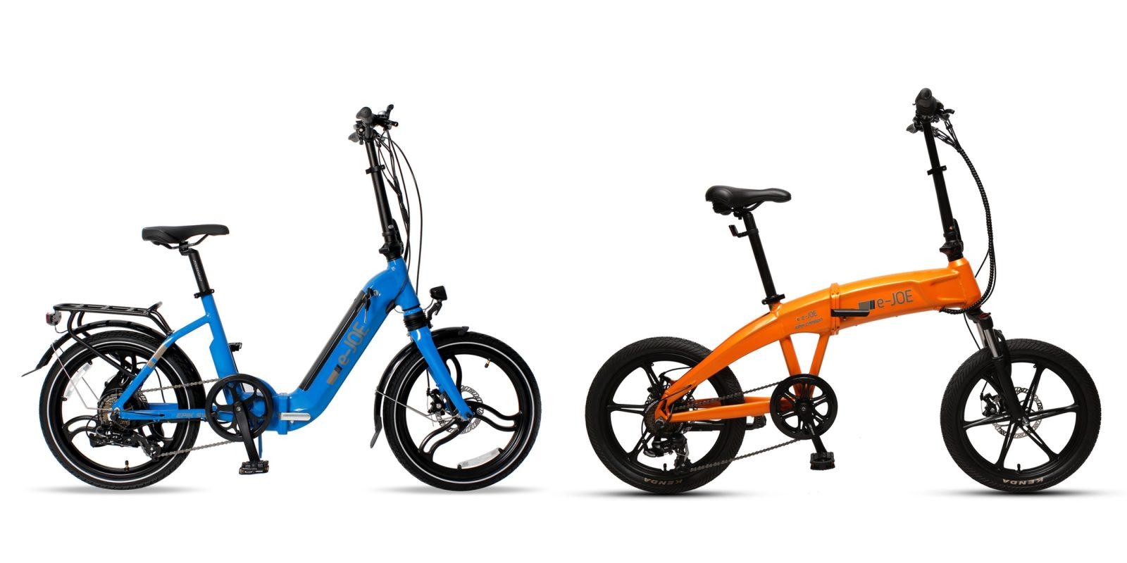 Two new folding e-bikes from e-JOE boast 40 miles of range and start at $1,399