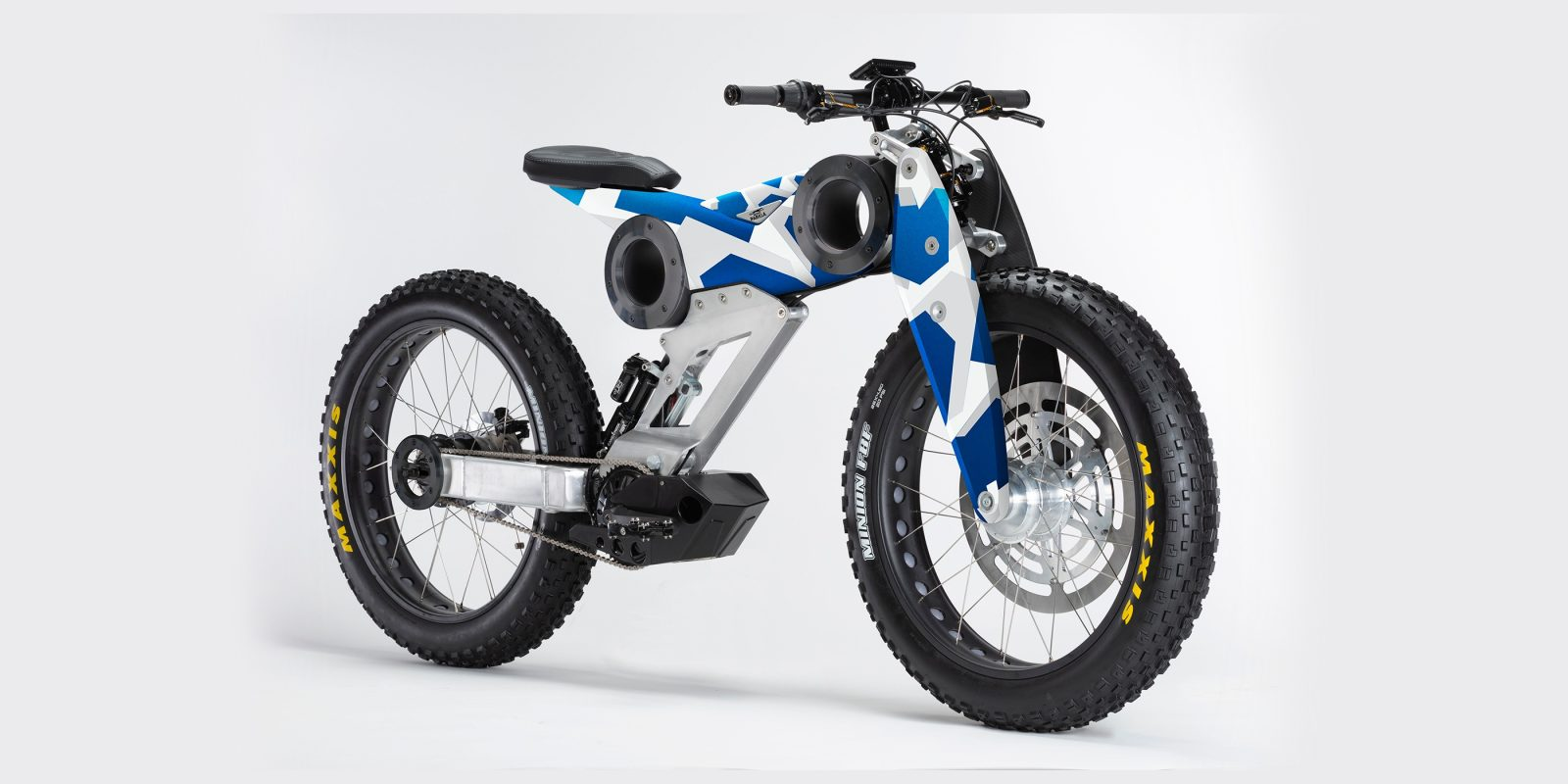 This electric motorcycle-lookin' thing is actually an Italian electric bicycle