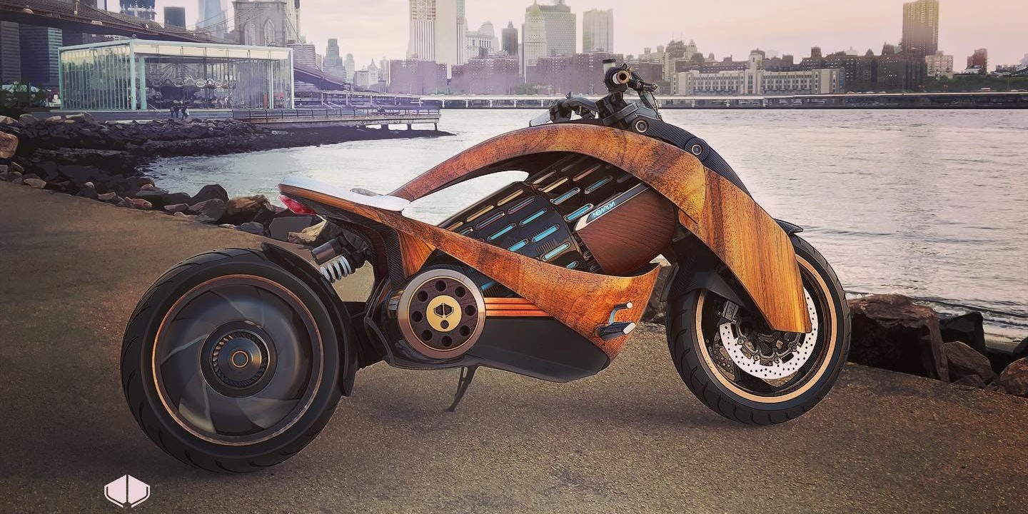 Newron Electric Motorcycle Unveiled With Beautiful Curved