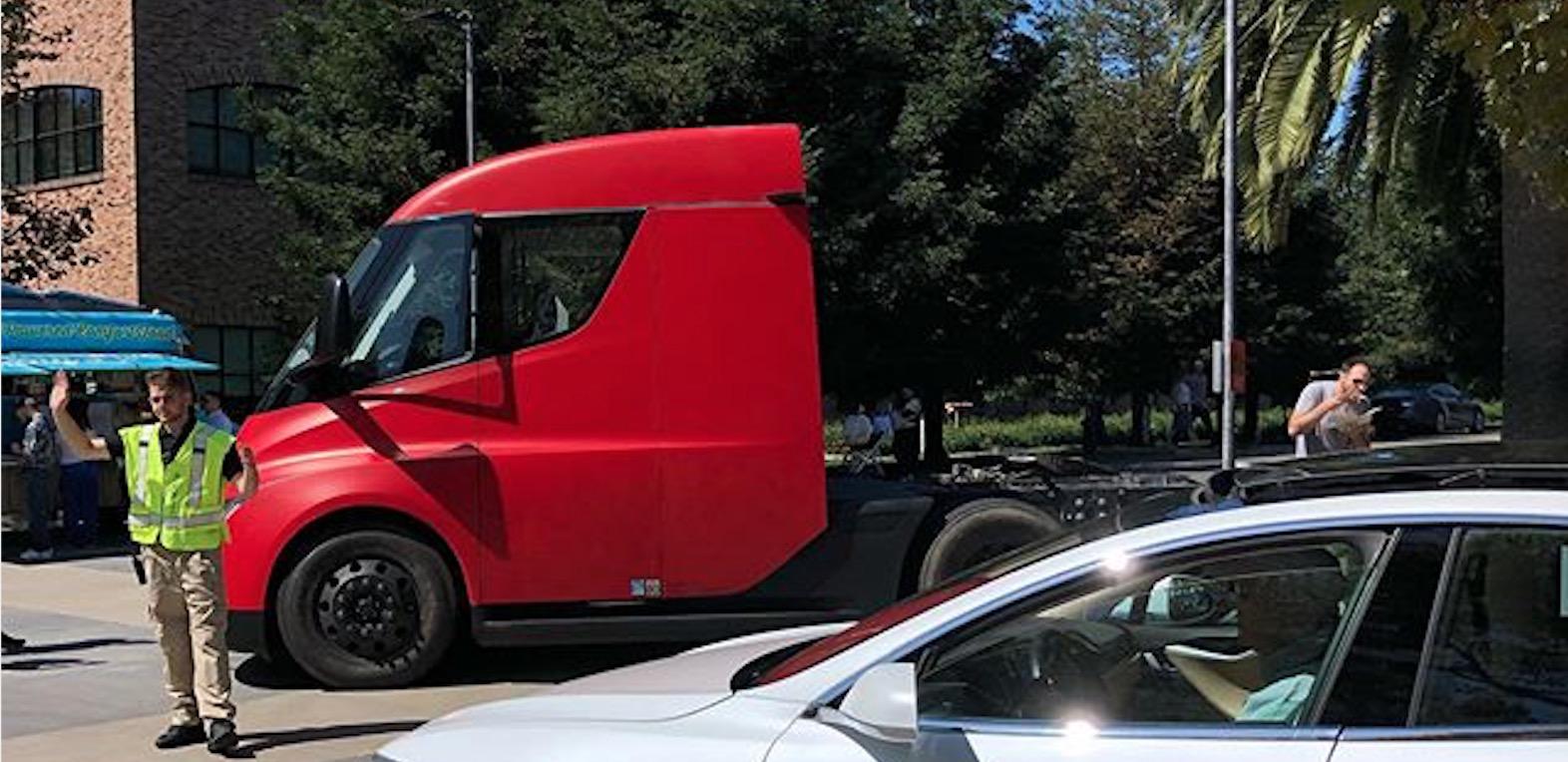 Tesla Semi prototype spotted at Pixar's headquarters - Electrek