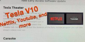 Tesla V10 Software update