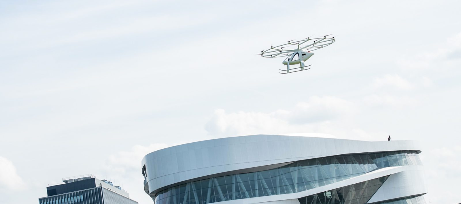 Watch all-electric air taxi 'Volocopter' make debut urban flight in Stuttgart