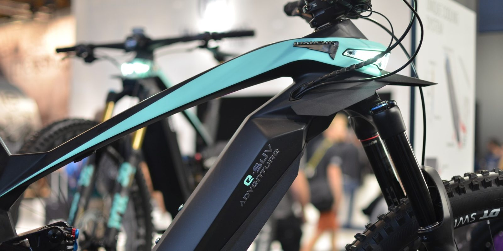 Bianchi E-SUV electric bicycle is a futuristic, far-out 720 Wh E-MTB