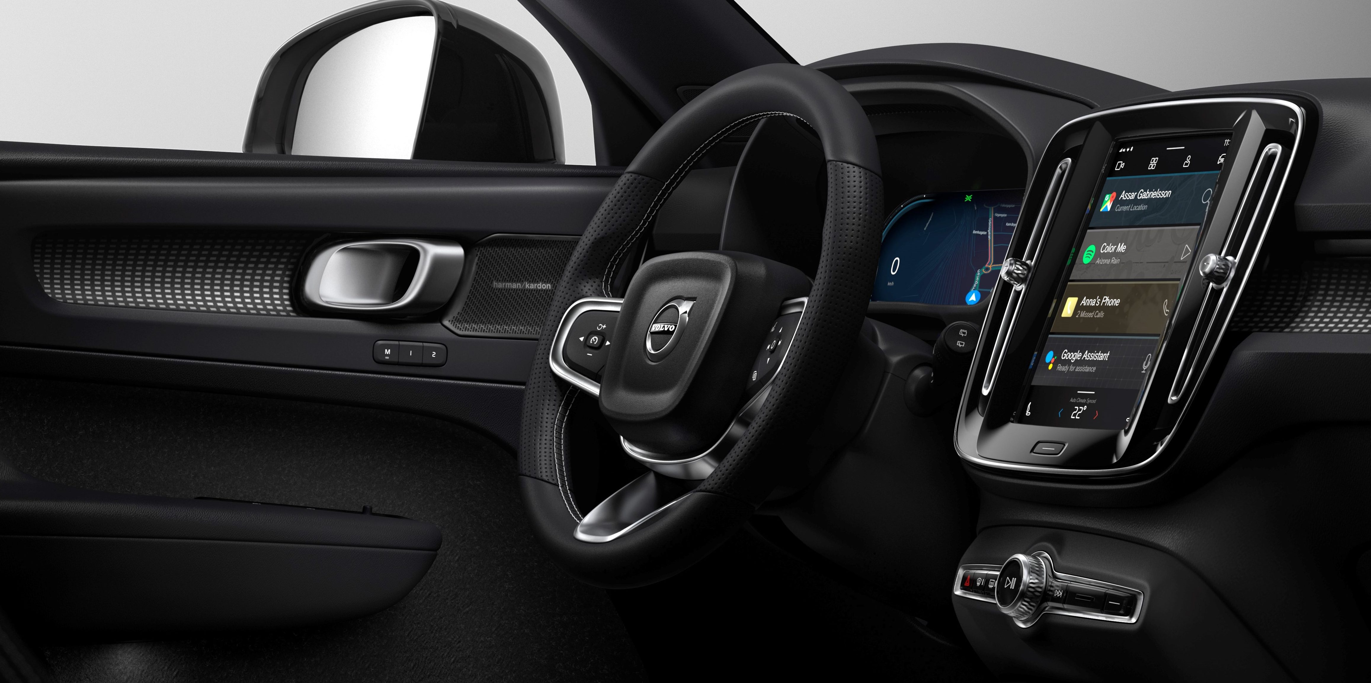 Volvo unveils electric XC40's infotainment system powered by