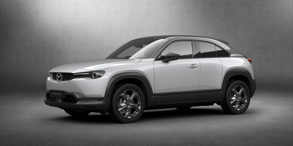 Mazda unveils their first EV, the MX-30; EU orders open now, delivery next year