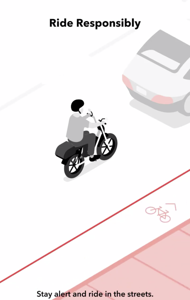 bird cruiser electric moped in the street