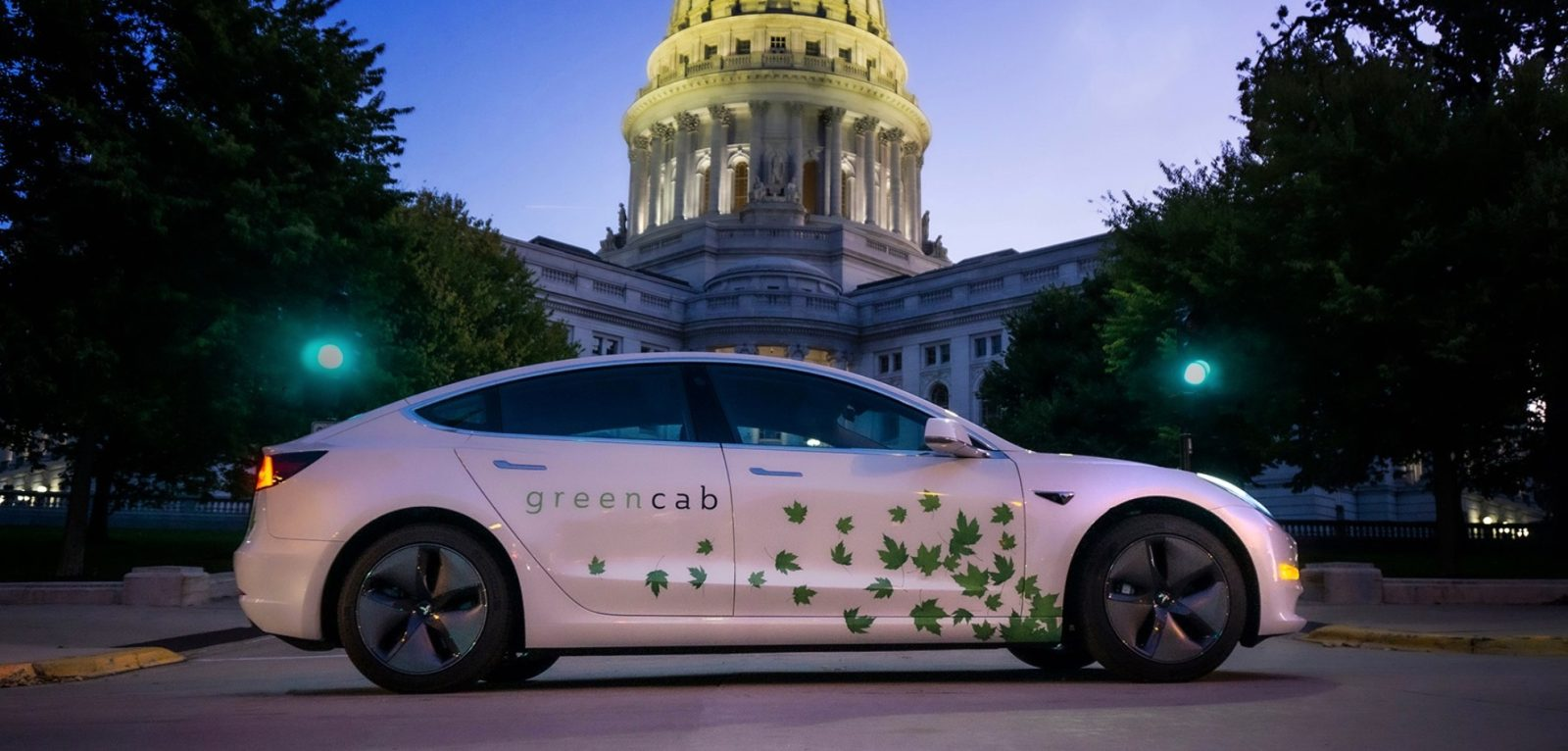 A fleet of 40 Tesla Model 3s is creating an all-electric taxi service in Madison