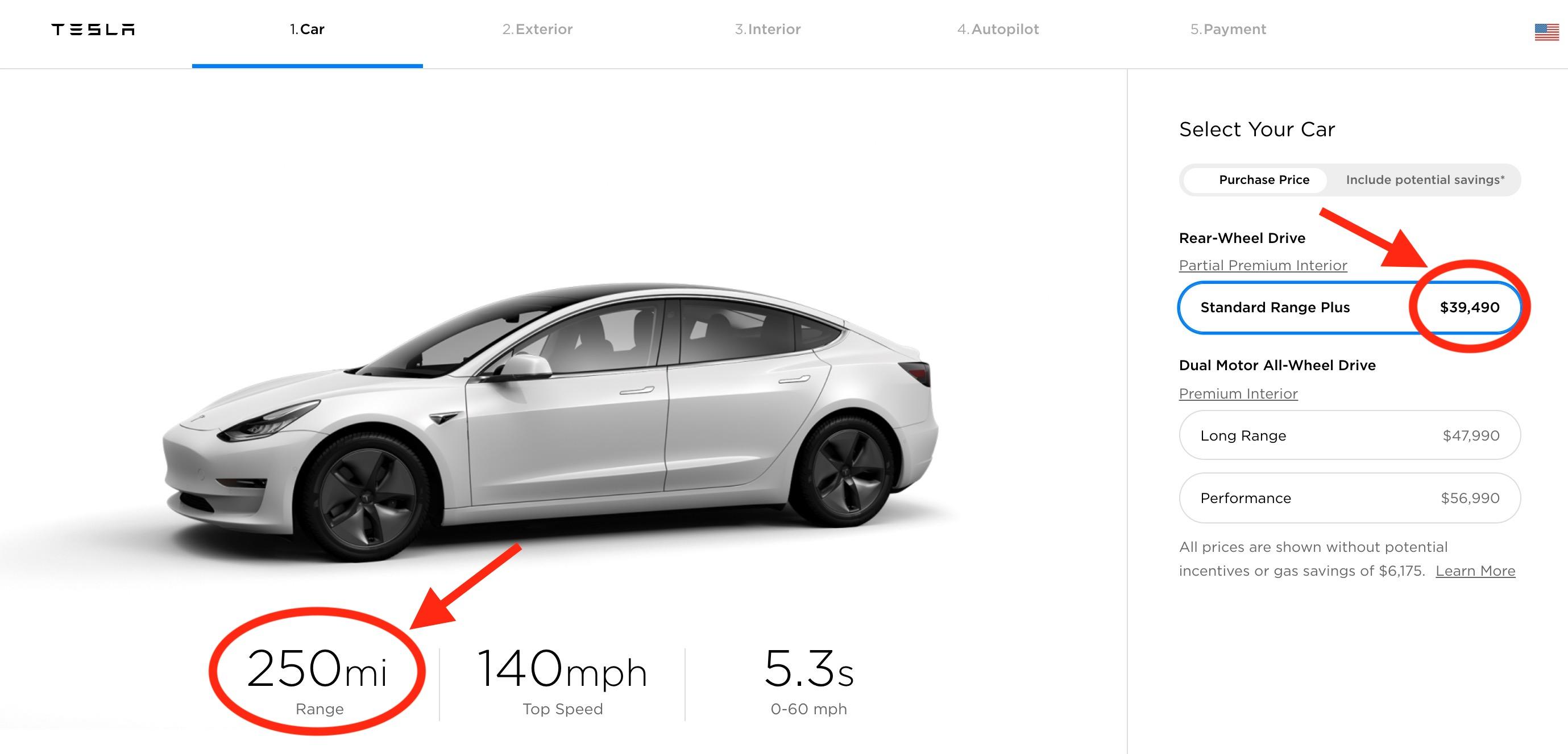 Tesla increases range of base Model 3, bumps price up ...