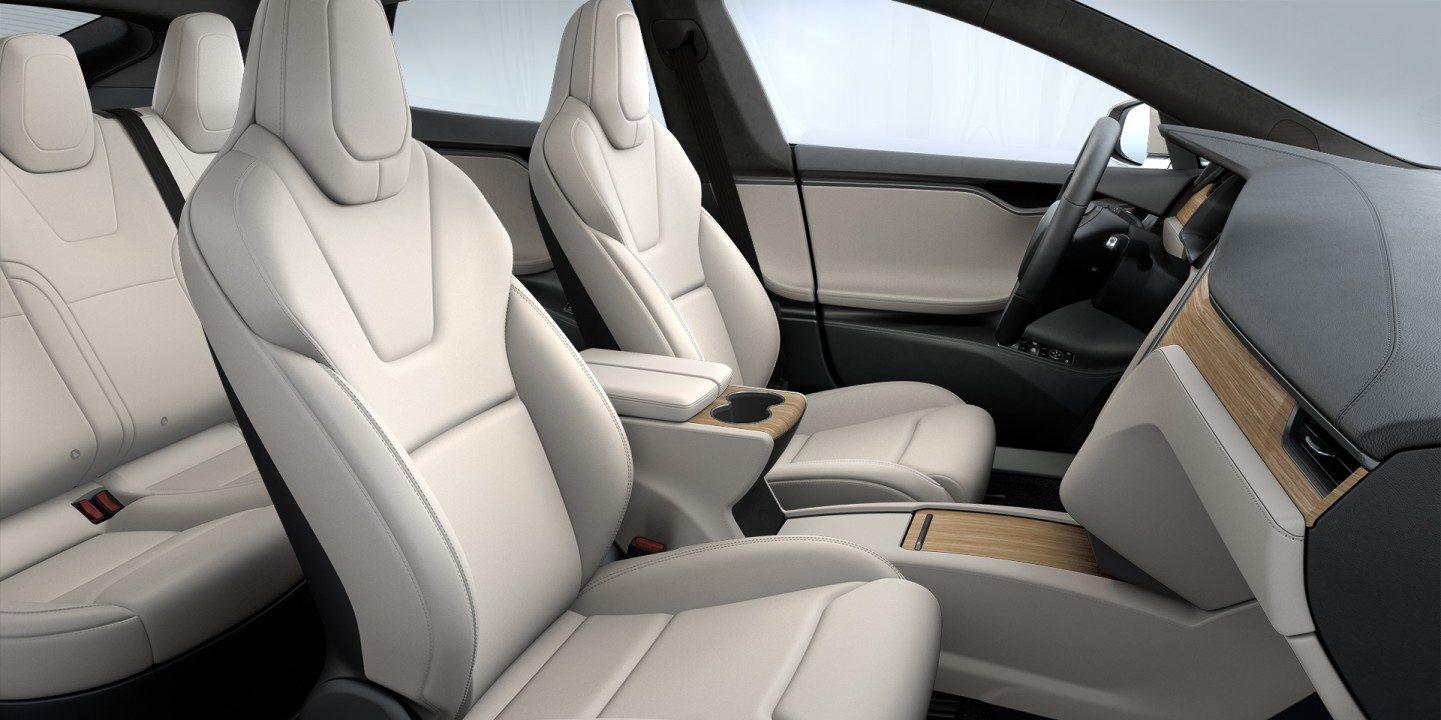 Tesla Model S Interior >> Tesla Updates Model S Cream Interior Electrek