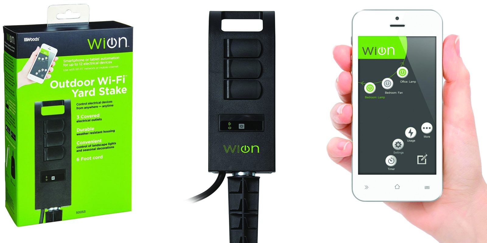 WiOn's 3-outlet Outdoor Smart Plug is $13.50, more in today's Green Deals