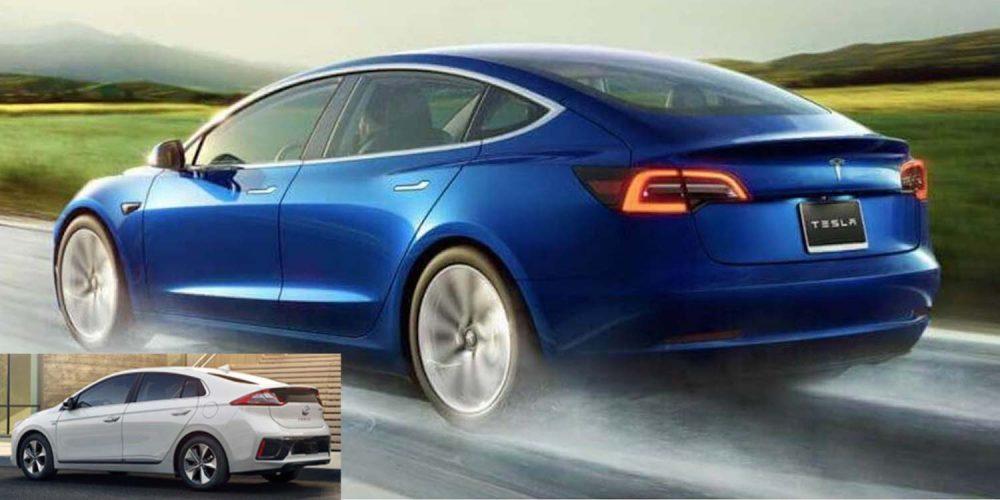 2020 Tesla Model 3 beats Hyundai IONIQ to become most ...