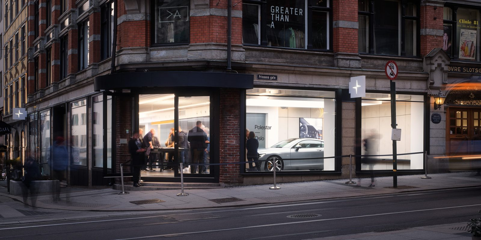 Buying a Polestar EV happens in gallery spaces with fixed prices and a giant tabletop screen