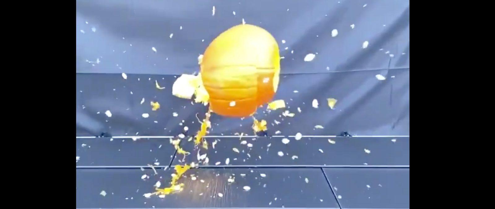 Tesla Solar Roof Glass Wins Against Pumpkin But Questions