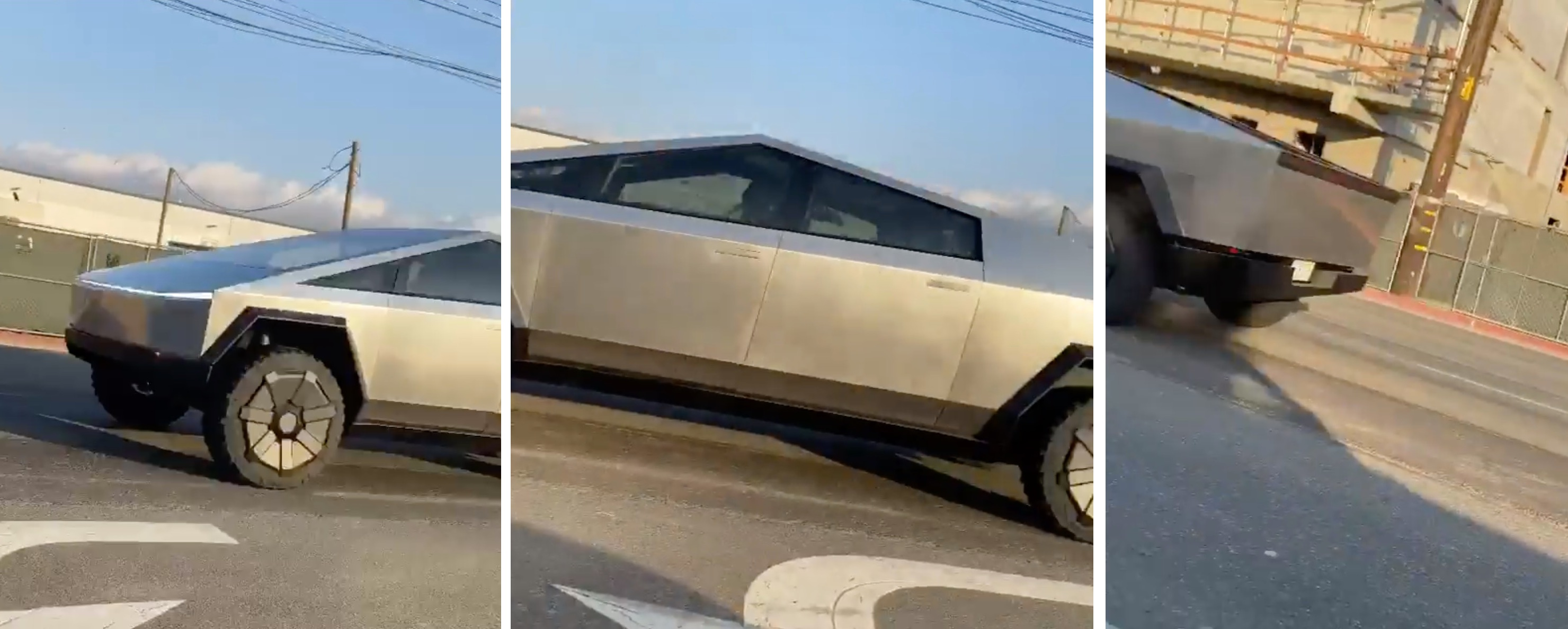 Tesla Cybertruck prototype spotted in broad daylight for first time - Electrek