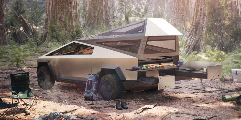 Tesla S Pickup Truck Has A Camper Configuration Electrek