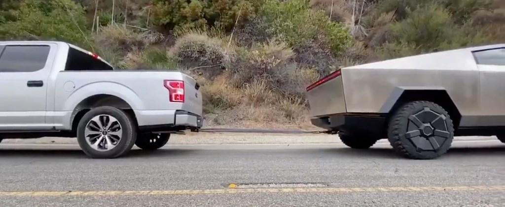 Tesla to redo Cybertruck vs. Ford F150 tug-of-war challenge after claims it wasn't fair - Electrek