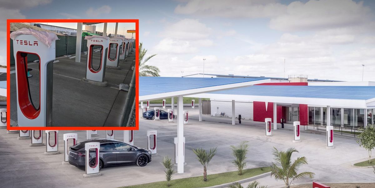 Tesla is upgrading its largest Supercharger station with new V3 technology
