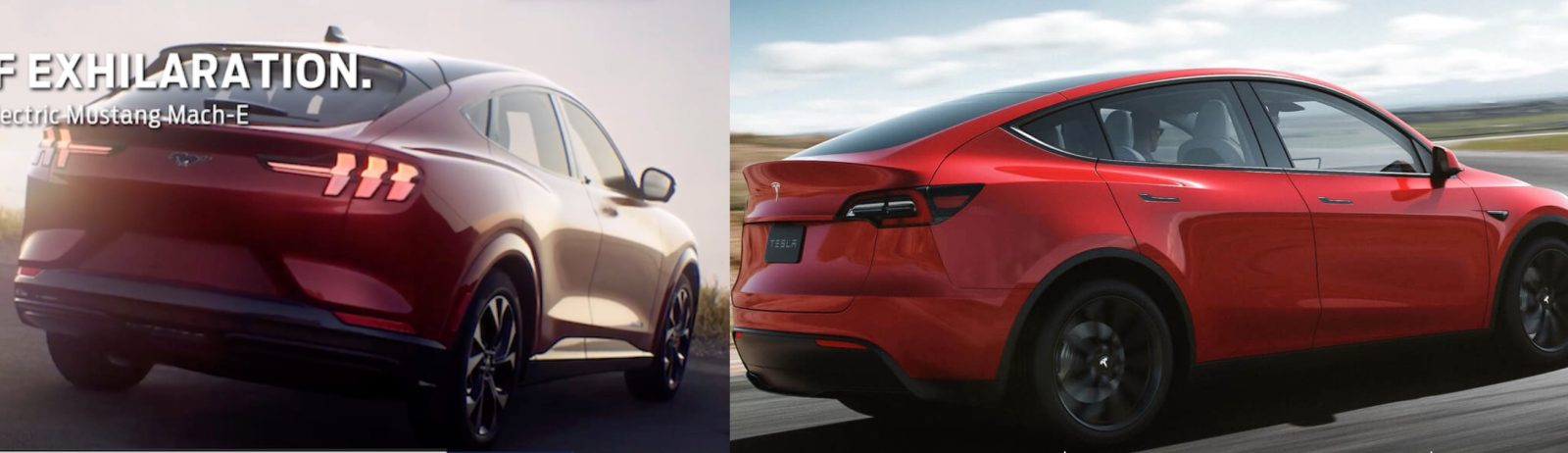 Tesla Model Y vs. Ford Mustang Mach-E specs comparison