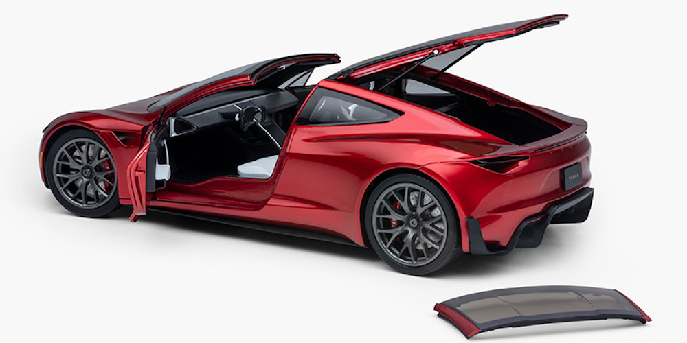 We are giving away a new Tesla Roadster…1:18 diecast model