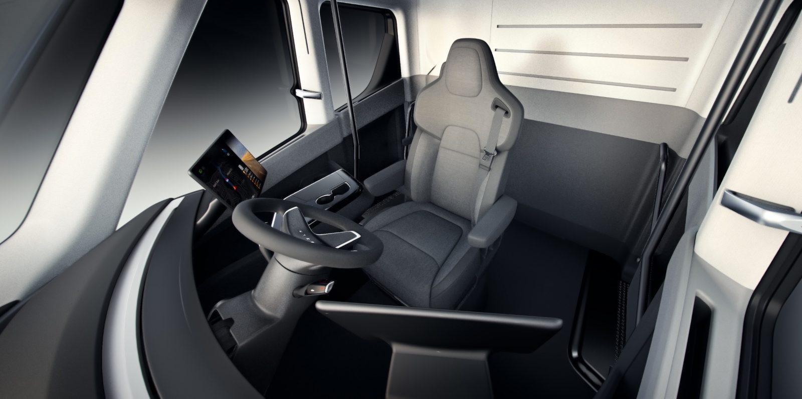 Tesla Designs Its Own Semi Truck Seat Suspension For Tesla