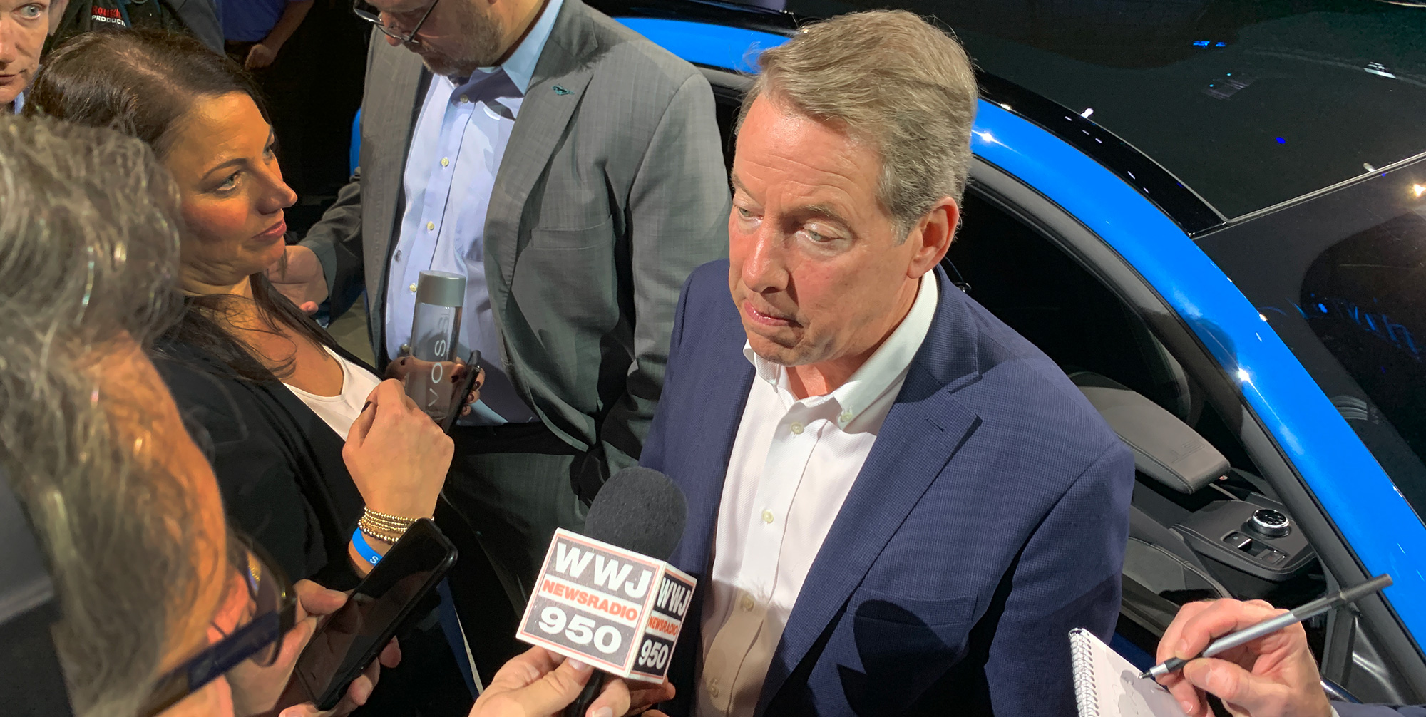 Bill Ford at the unveiling of the Mustang Mach-E