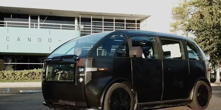 Video: Canoo begins road-testing of its EV compact van, fast-tracking production