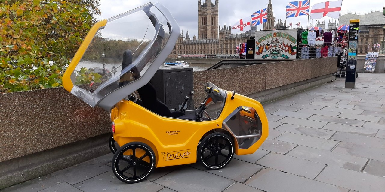 Is this little four-wheeler an electric car or an e-bike? Apparently it's both
