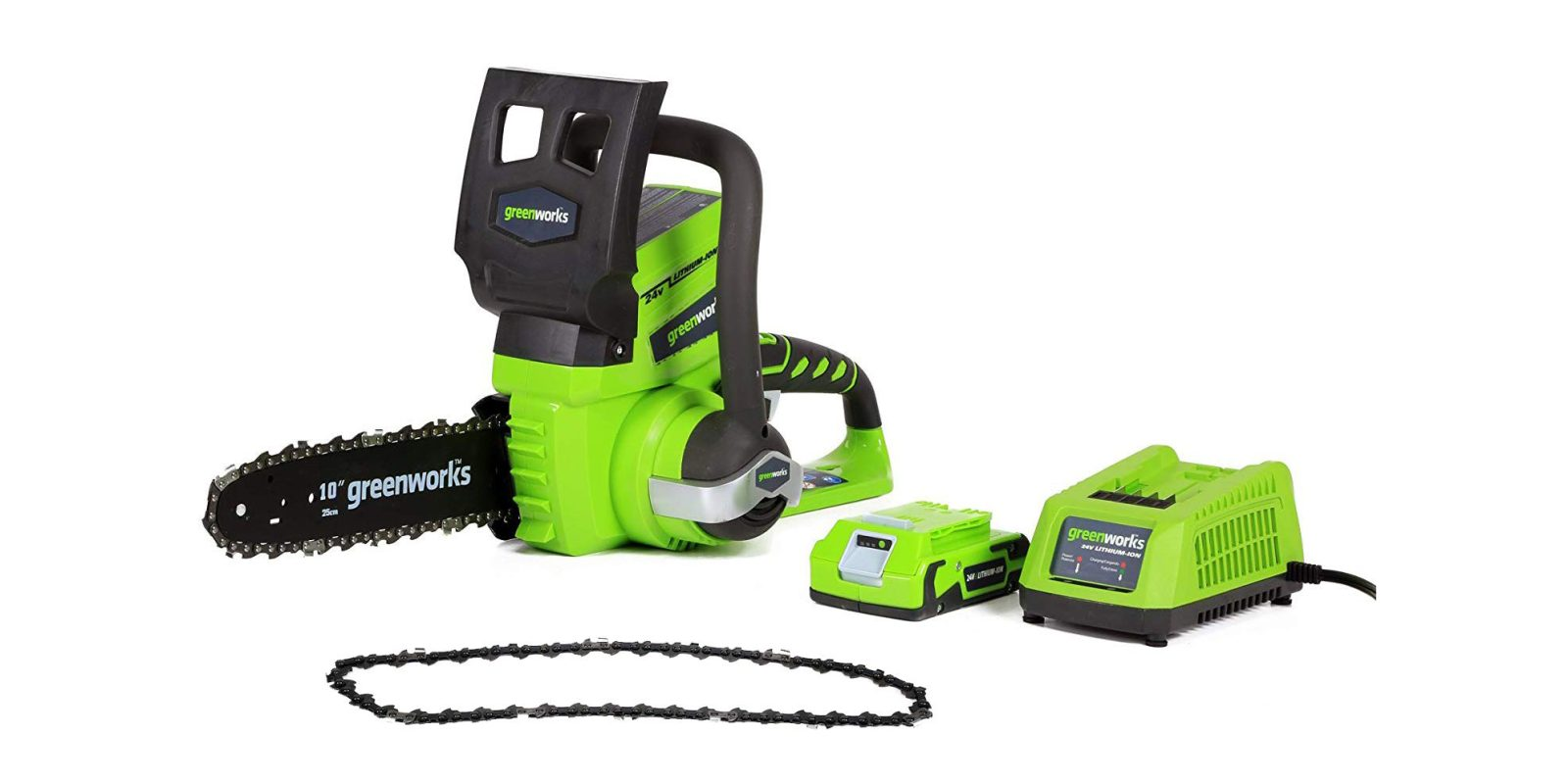 Greenworks 10-inch 24V Cordless Electric Chainsaw $50, more in today's Green Deals