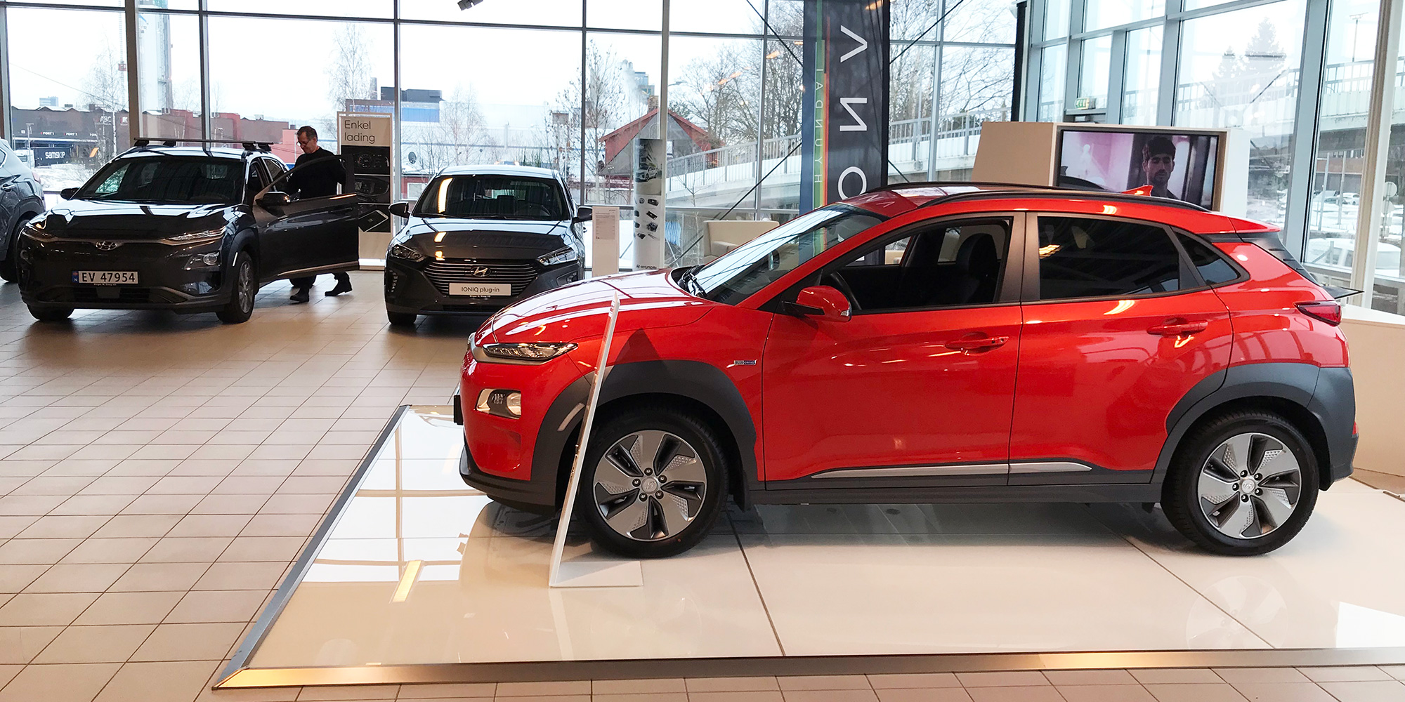 the Birger N. Haug Nissan dealership in Oslo is a big seller of Nissan LEAFs and Kona EVs