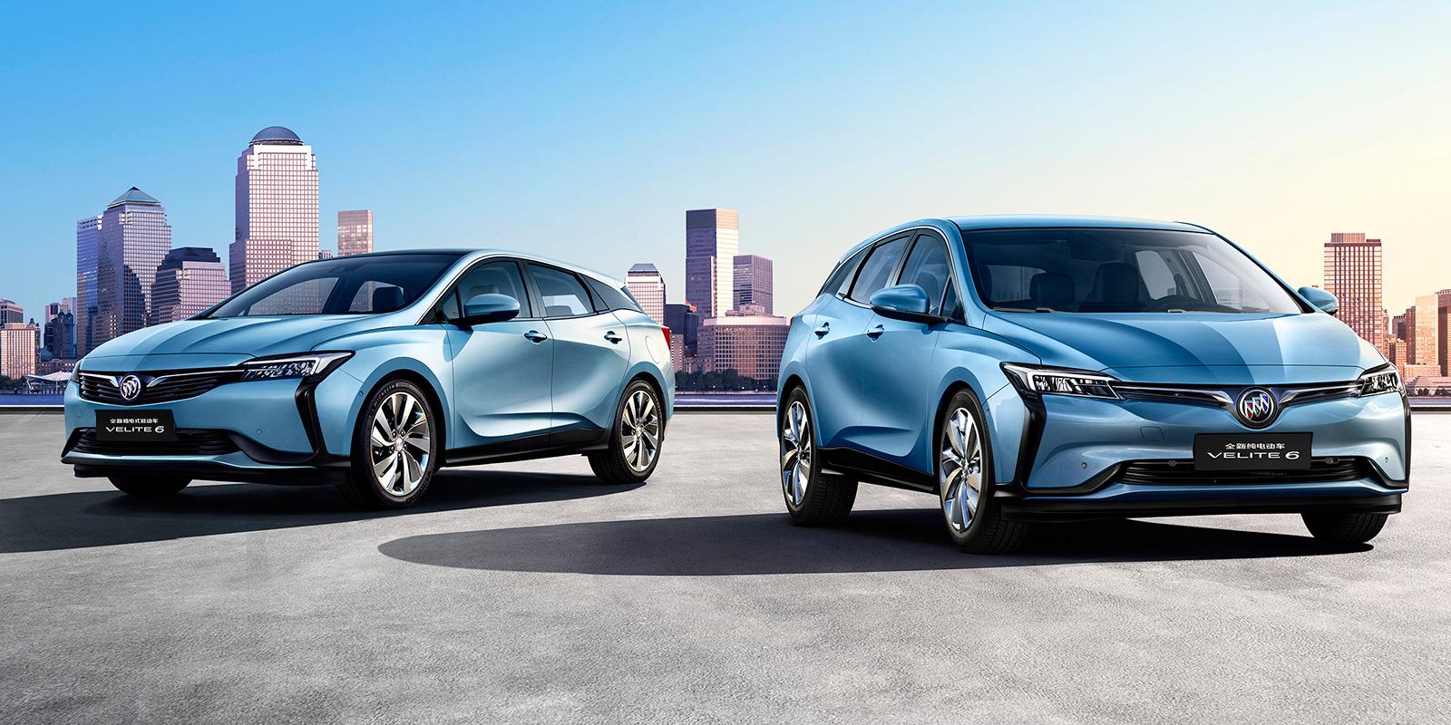 Buick Velite plug-in hybrid and EV