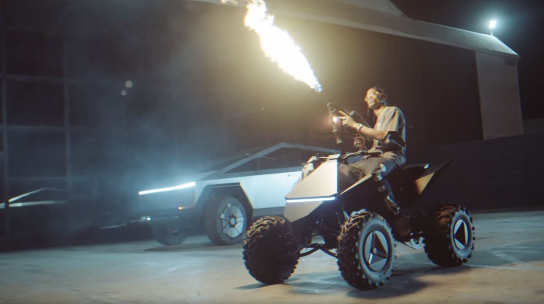 Tesla Cybertruck makes music video debut with Cyberquad co ...
