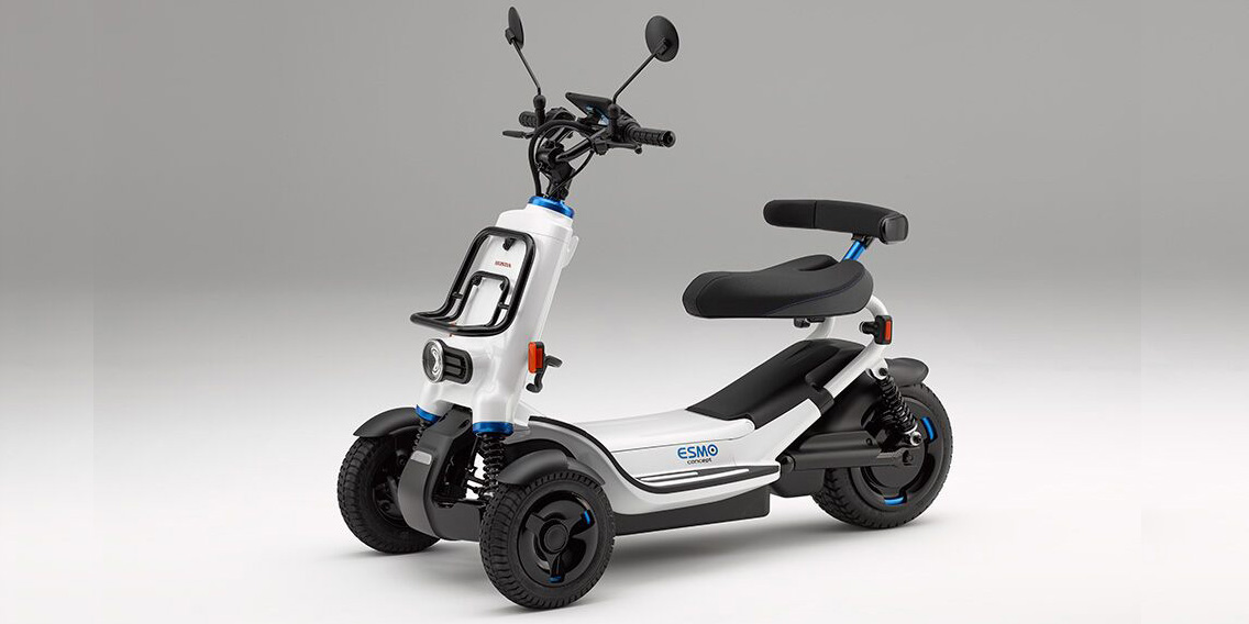 Honda's Electric Smart Mobility (ESM) device, powered by a swappable 1-kWh battery