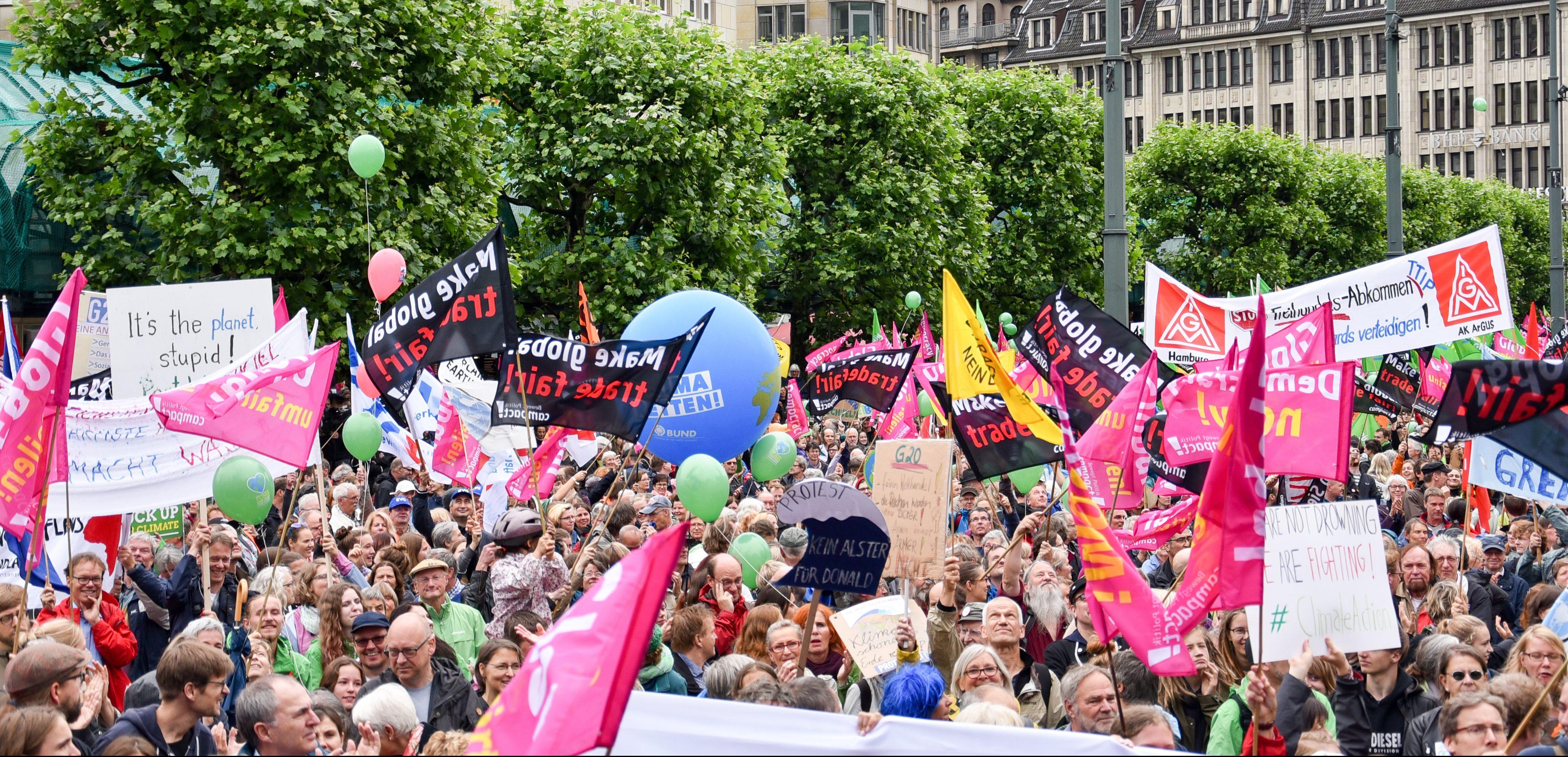 German franch schwichtenberg hambourg protestation contre le climat